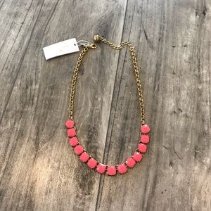 Kate Spade Gold and Pink Statement Necklace NWT